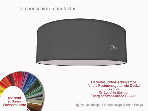 Deckenleuchte 40 Cm 3 X E27 Lampenschirm Onlineshop
