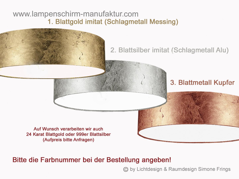 deckenleuchte gold silber kupfer 60 cm lampenschirm und leuchten manufaktur onlineshop. Black Bedroom Furniture Sets. Home Design Ideas