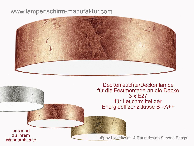 Kupfer Deckenlampe deckenleuchte gold silber kupfer 80 cm - lampenschirm- und leuchten